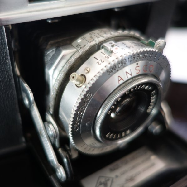 Ansco Super Regent shutter closeup